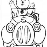 דף צביעה מר טובי נוהג במכונית