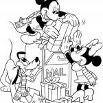 דף צביעה פלוטו, מיקי ומיני במשלוח מתנות