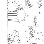דף צביעה הפינגווין פוגש את דובוני הקוטב מיקי וניקי