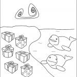 דף צביעה מתנות לדולפינים