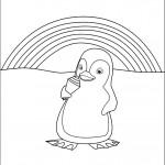 דף צביעה הפינגווין מלקק גביע גלידה