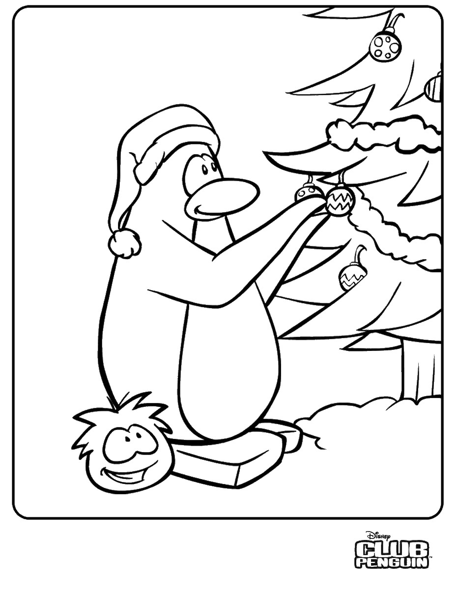 Club penguin christmas coloring pages - crazywidow.info