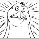 דף צביעה ריקו הפינגווין הקצת משוגע