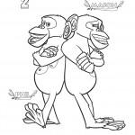 דף צביעה השימפנזות מייסון ופיל