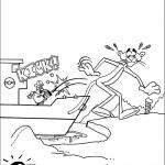 דף צביעה הפנתר הוורוד 7
