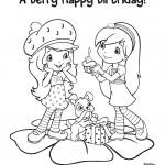 דף צביעה אוכמנית חוגגת יום הולדת