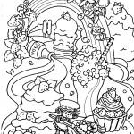 דף צביעה תותית, חברים והקשת בענן