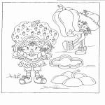 דף צביעה תותית וקובי חותכים פלפלים