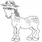 דף צביעה הסוסה המצחיקה דובשנית