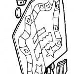 דף צביעה משחק קופסה מונופול