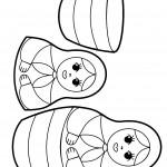 דף צביעה בובות בבושקה