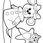 דף צביעה עכבר מחופש וחתול