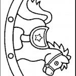 דף צביעה סוס עץ 1