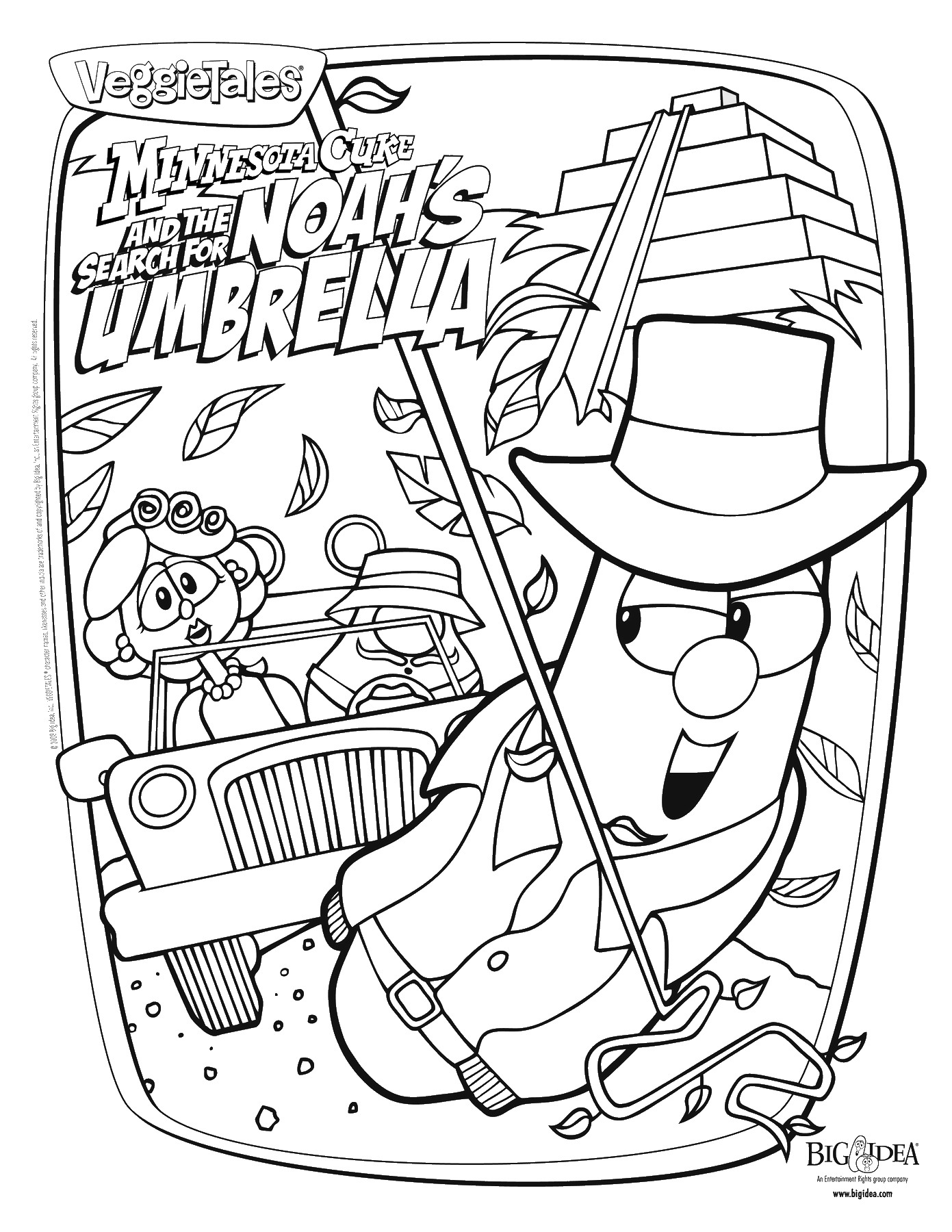 for Veggie tales printable coloring pages