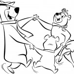 דף צביעה יוגי, סינדי ובובו בריקוד משותף