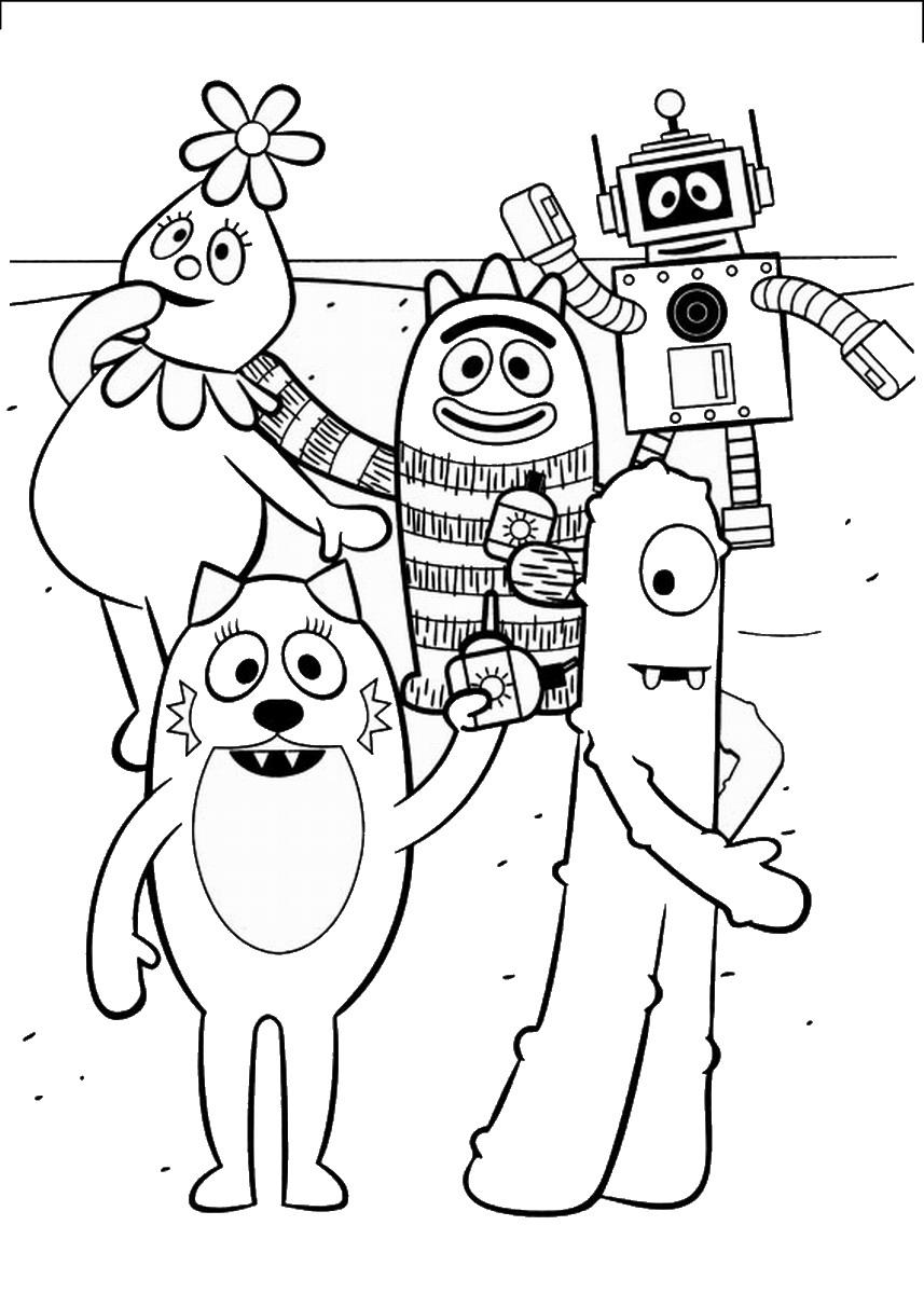 yo gabba gabba coloring pages - photo#17
