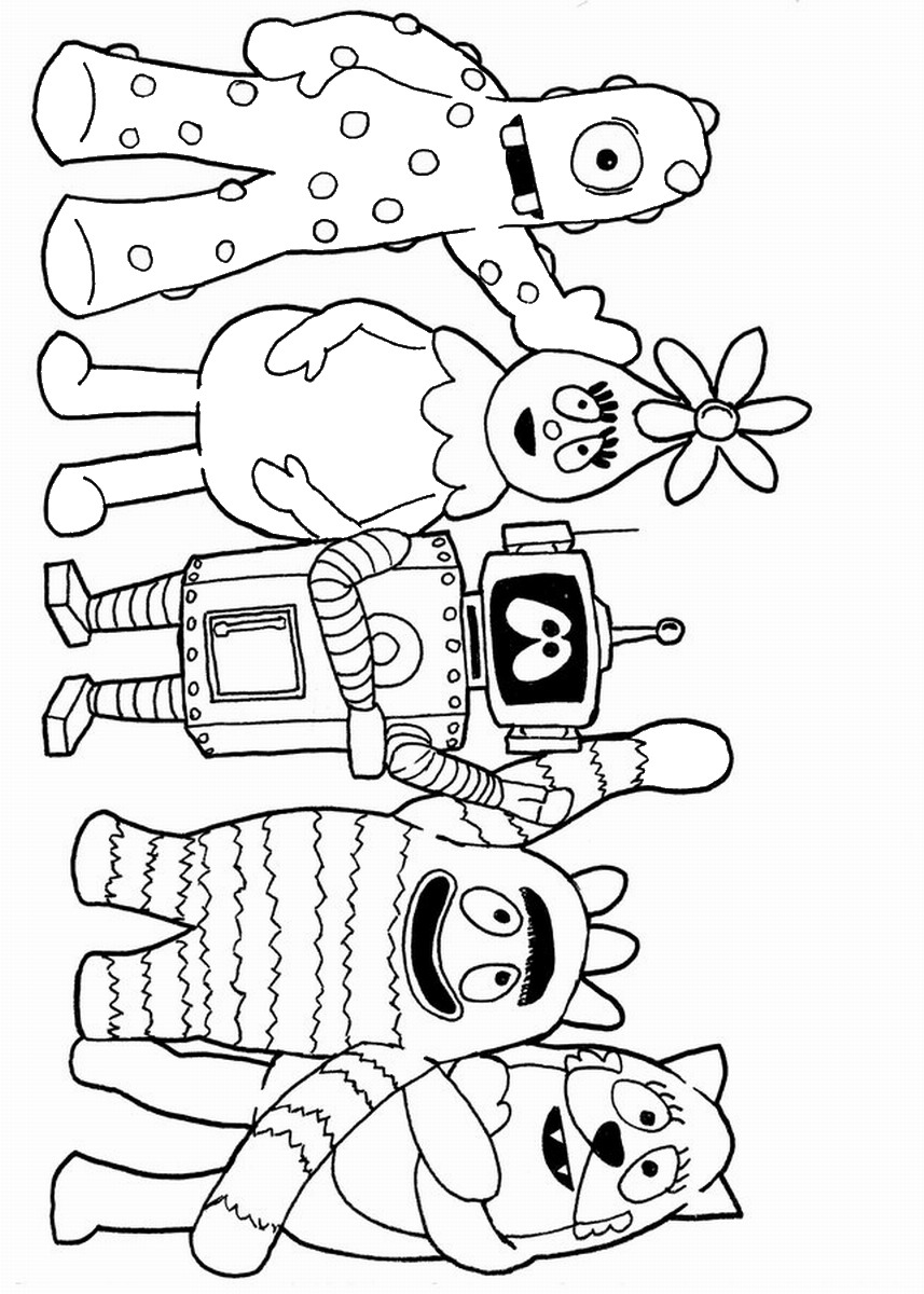 yogabbagabba coloring pages - photo #20