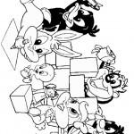 דף צביעה השד הטסמני טאז וחברים