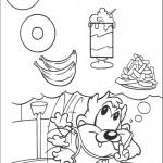 דף צביעה טאז הזללן חולם על אוכל