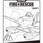 דף צביעה מטוסים 2 דאסטי