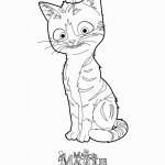 דף צביעה החתול הנטוש רעם