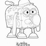 דף צביעה הרובוט בבל טום