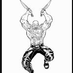 דף צביעה דראקס הלוחם