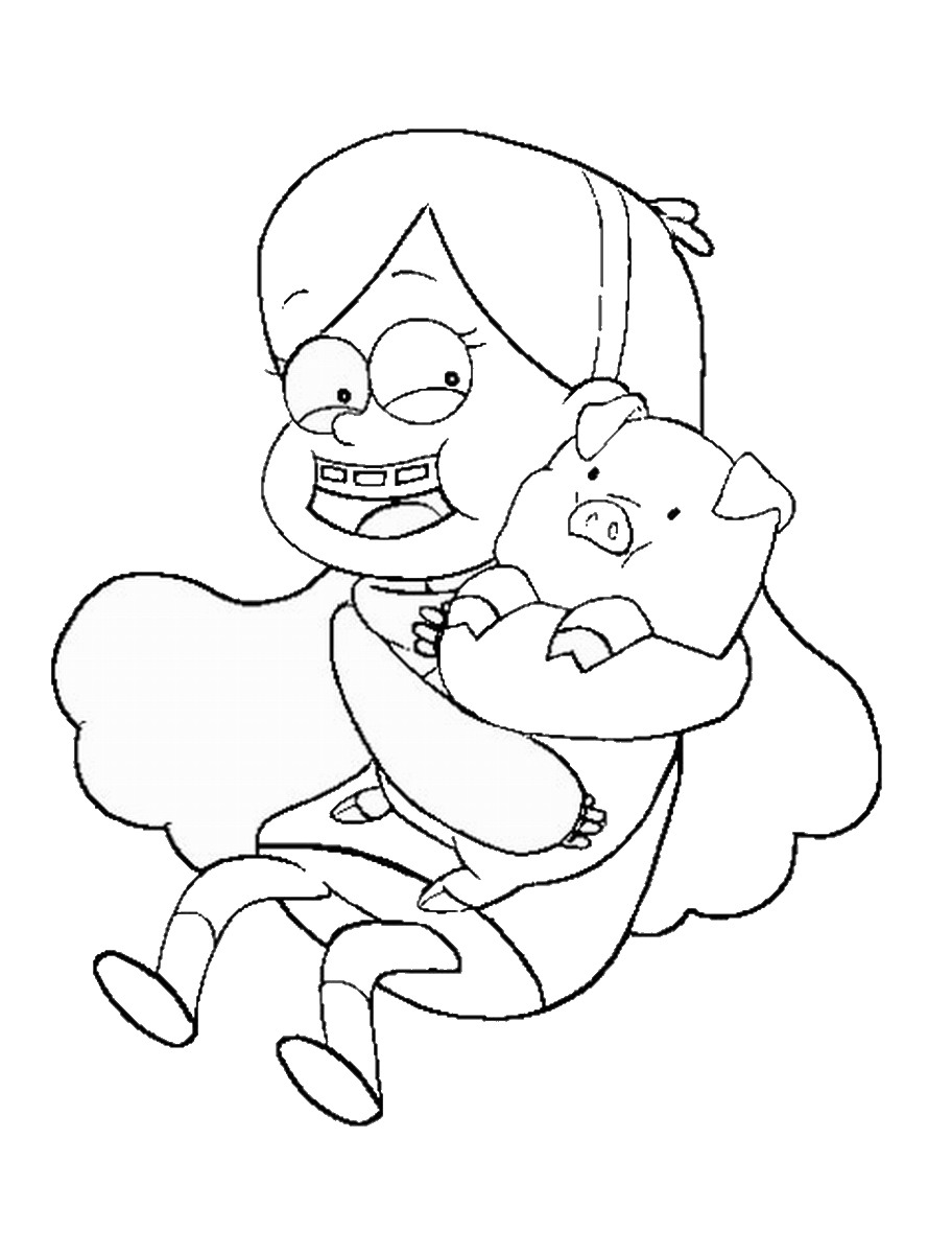 Free Coloring Pages Of Gravity Falls Dipper Gravity Falls Printable Coloring Pages