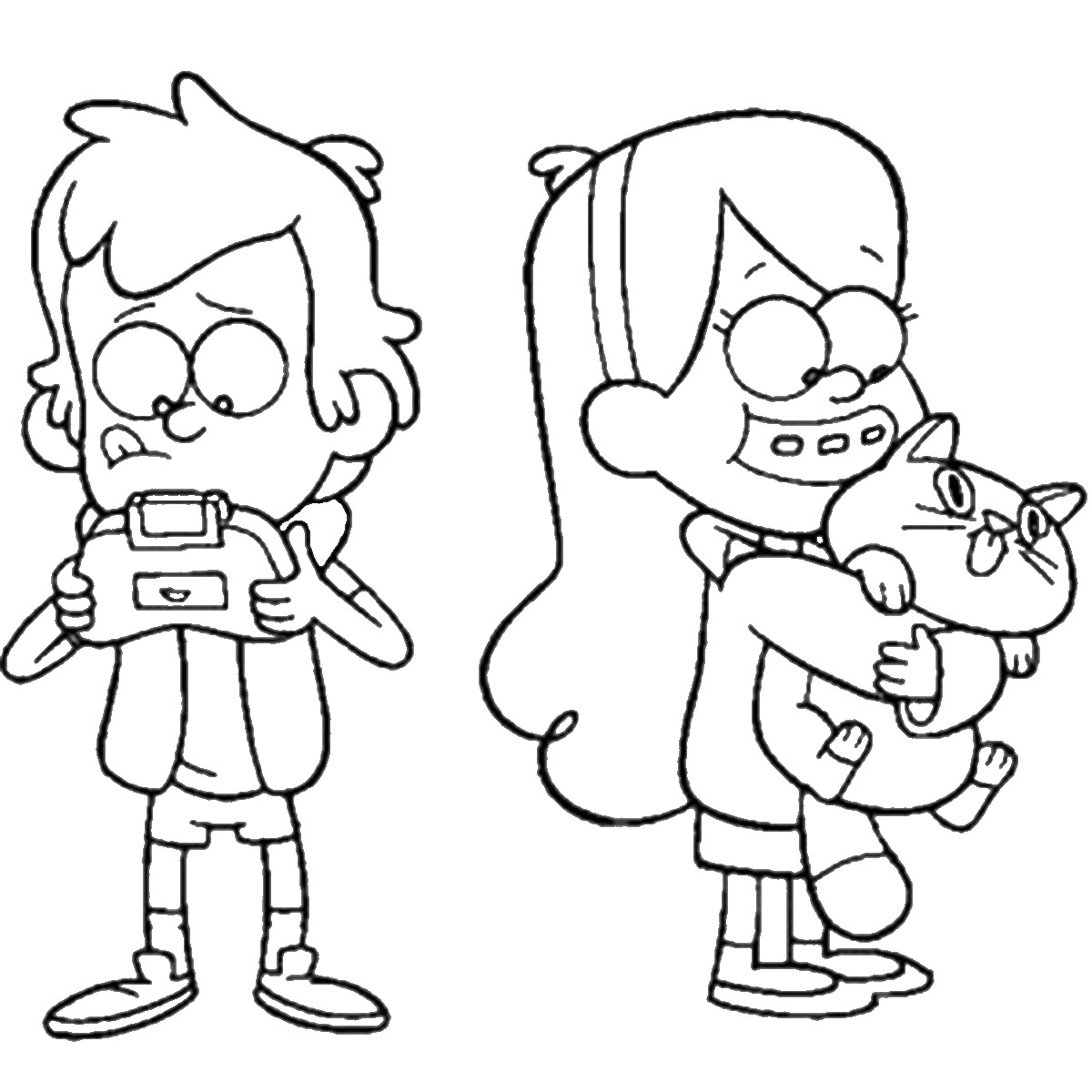 gravity falls coloring pages free - photo#36