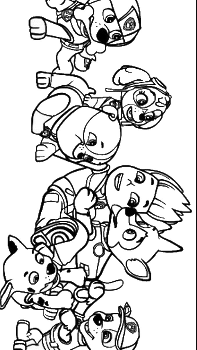 Coloring Pages Of Paw Patrol : Free coloring pages of paw patrol marshall