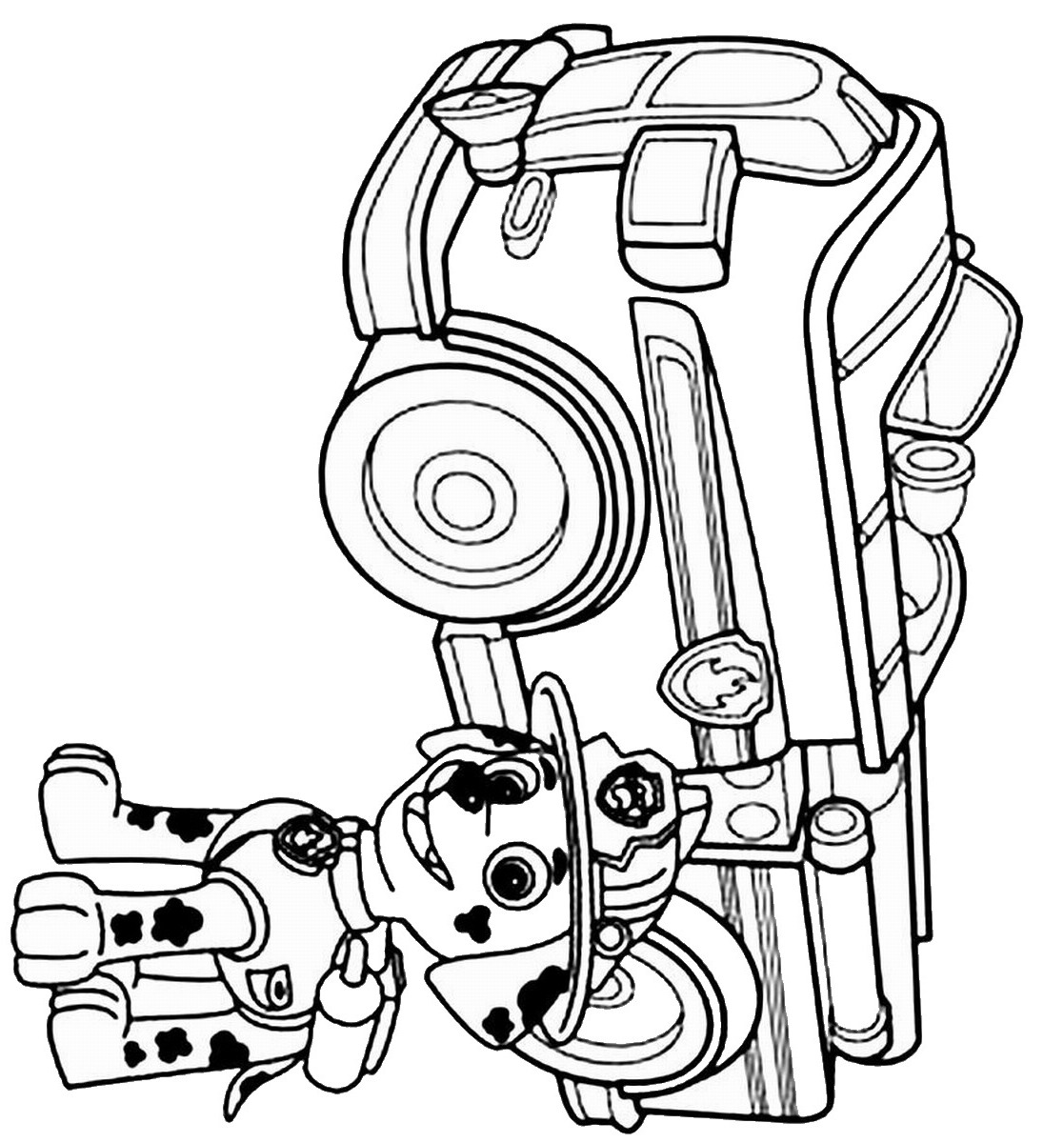 Free Coloring Pages Of Paw Patrol Colring