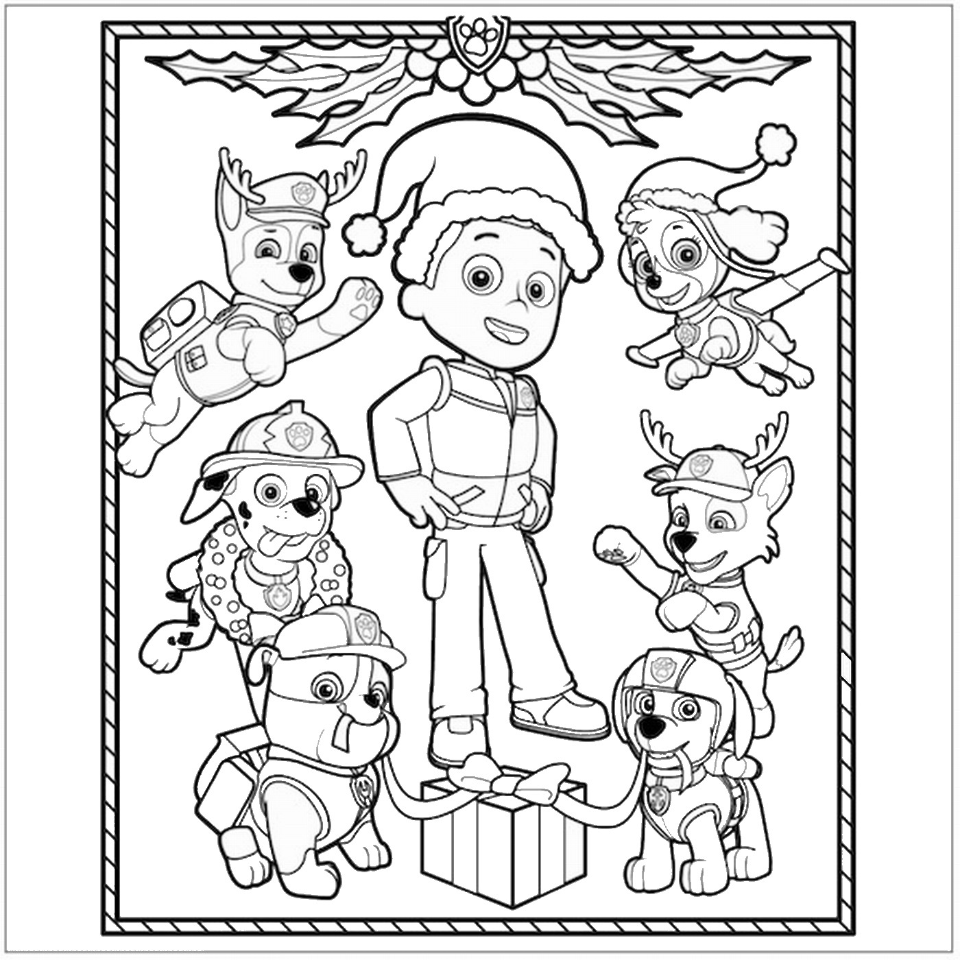 Free Coloring Pages Of Paw Patrol P