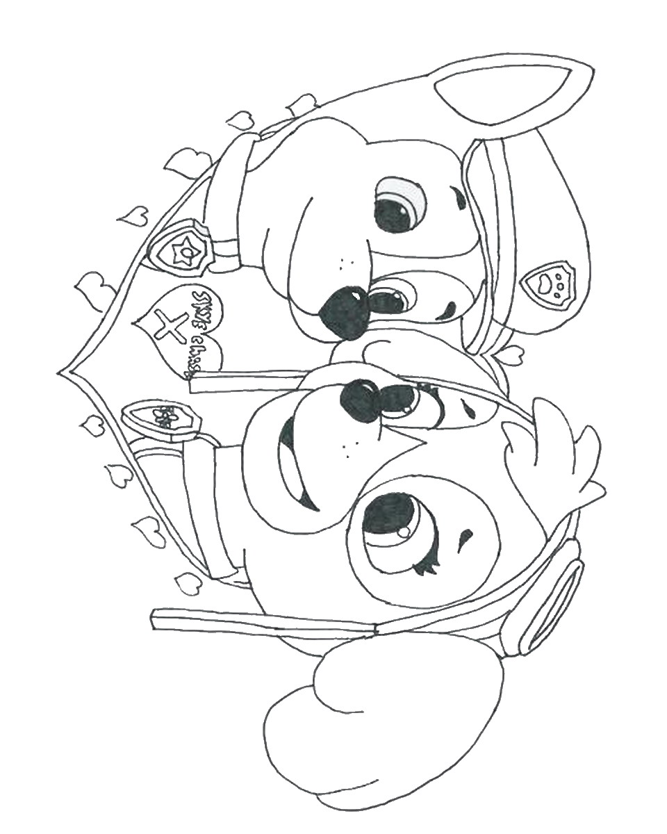 Coloring Pages Of Paw Patrol : Free coloring pages of paw patrol ryder