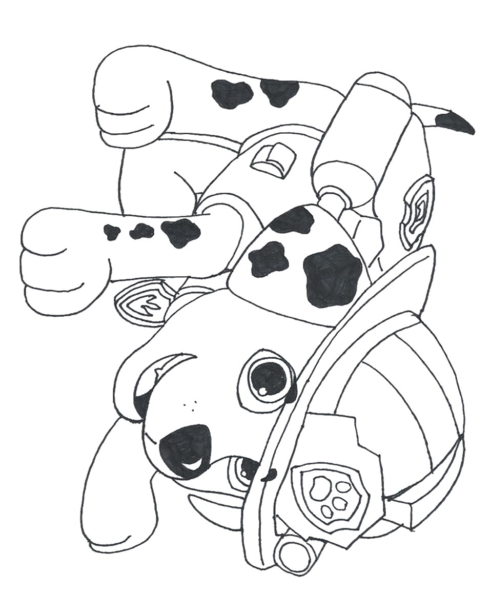 Printable Coloring Pages Of Paw Patrol : Rat paw colouring pages