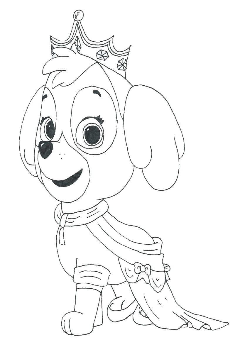 Paw Patrol Coloring Pages : Paw patrol everest coloring pages to print