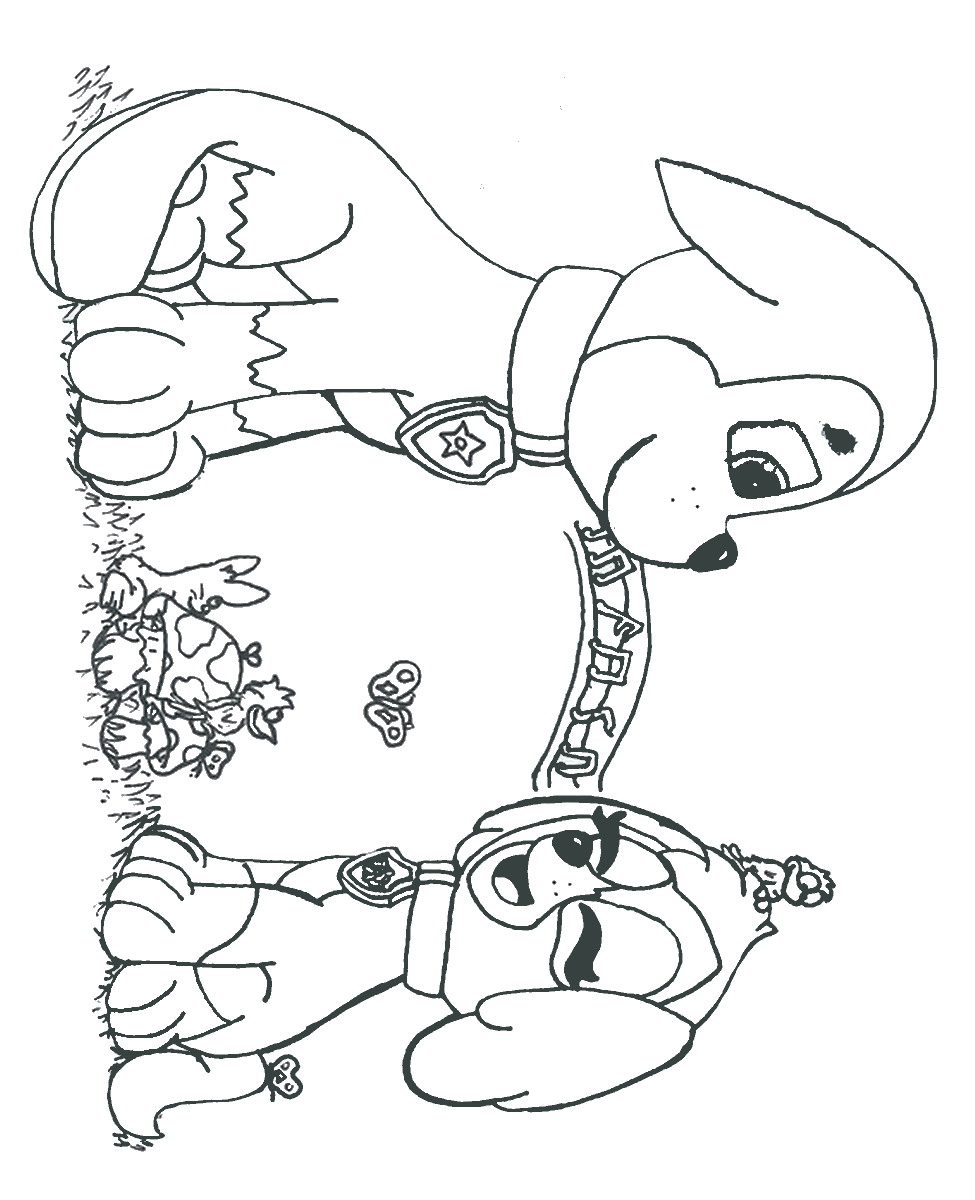 Cat Paw Coloring Page Coloring Pages of Paw Patrol