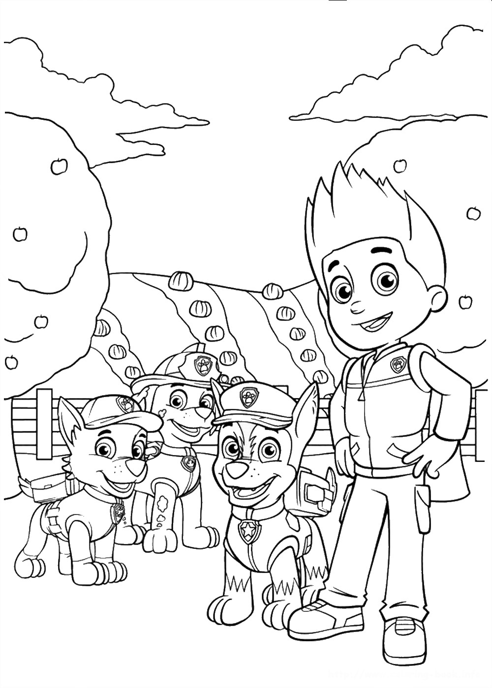 Printable Coloring Pages Of Paw Patrol : Paw patrol colouring pages