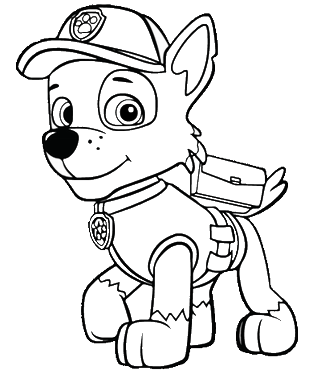 paw patrol coloring pages to print - all the paw potrol free colouring pages