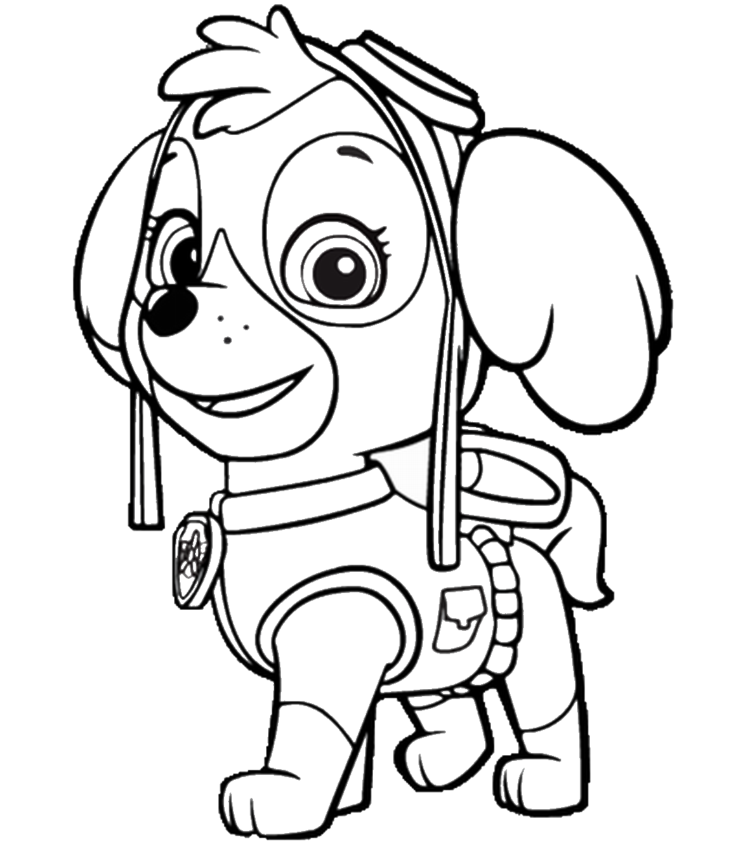 Coloring Pages Of Paw Patrol : Paw patrol free colouring pages