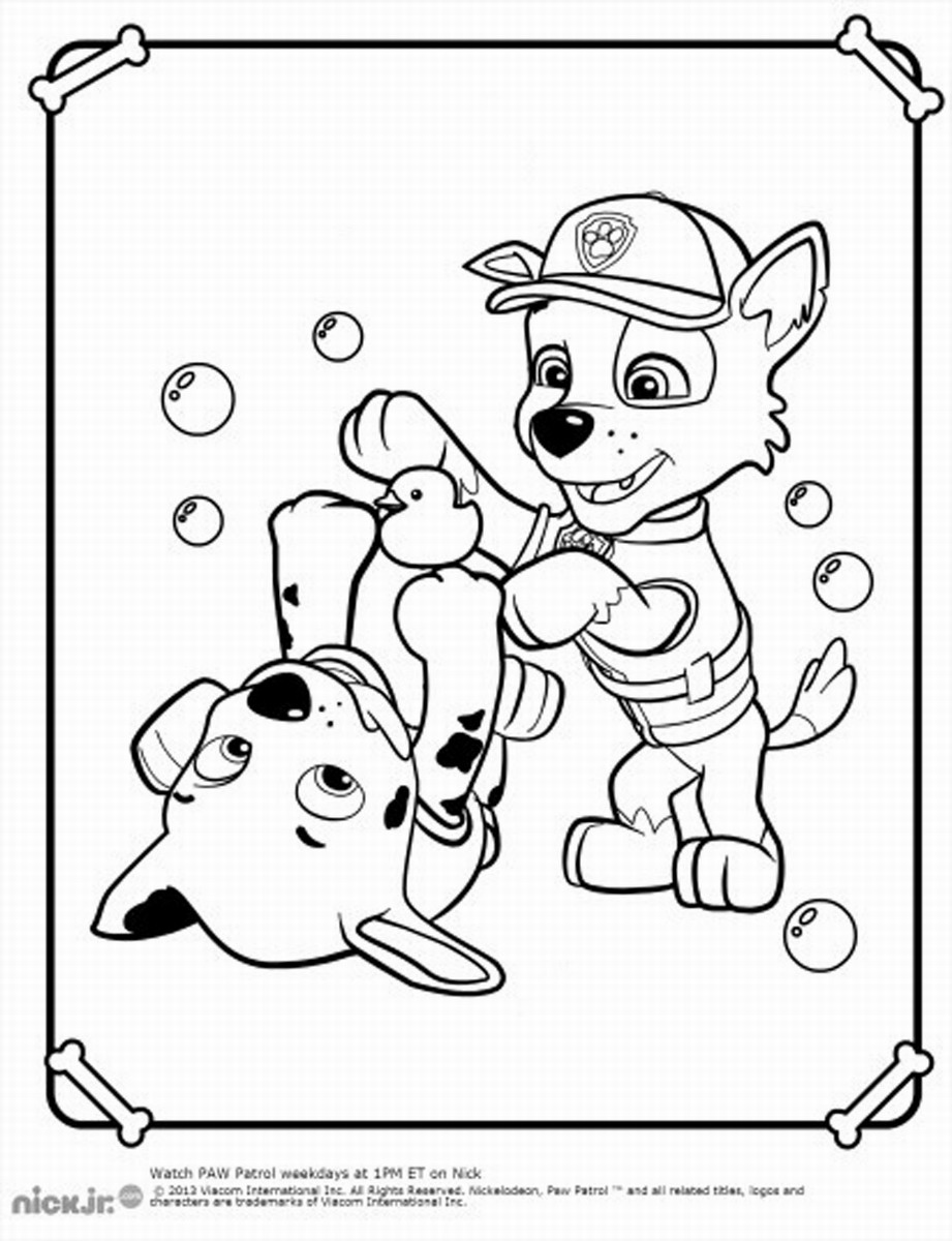Coloring Pages Paw Patrol : Free coloring pages of paw patrol cat chase