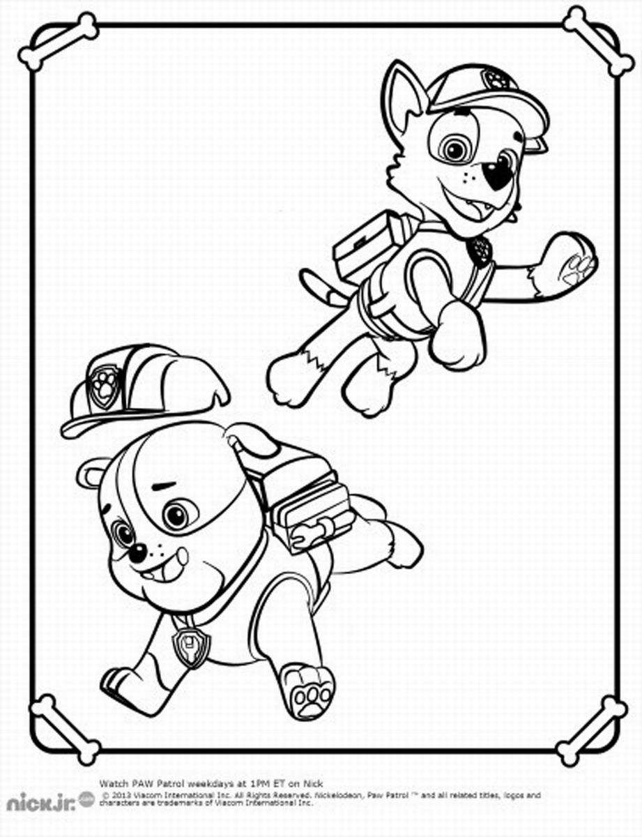 Printable Coloring Pages Of Paw Patrol : Paw patrol poncho colouring pages