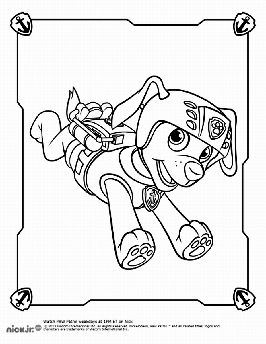 Easter Coloring Pages Paw Patrol : Free paw patrol zuma coloring pages