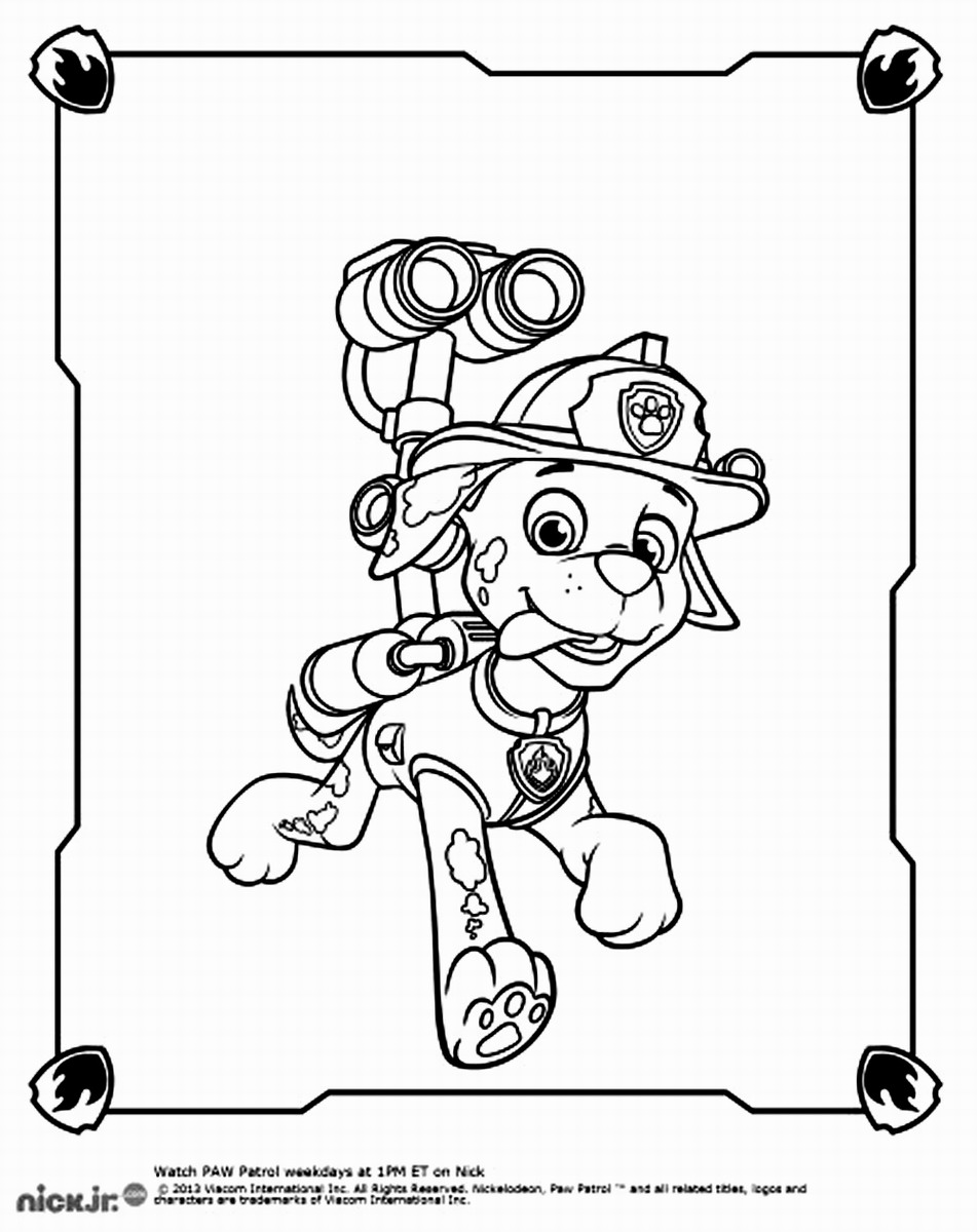 paw patroller coloring pages - photo#33
