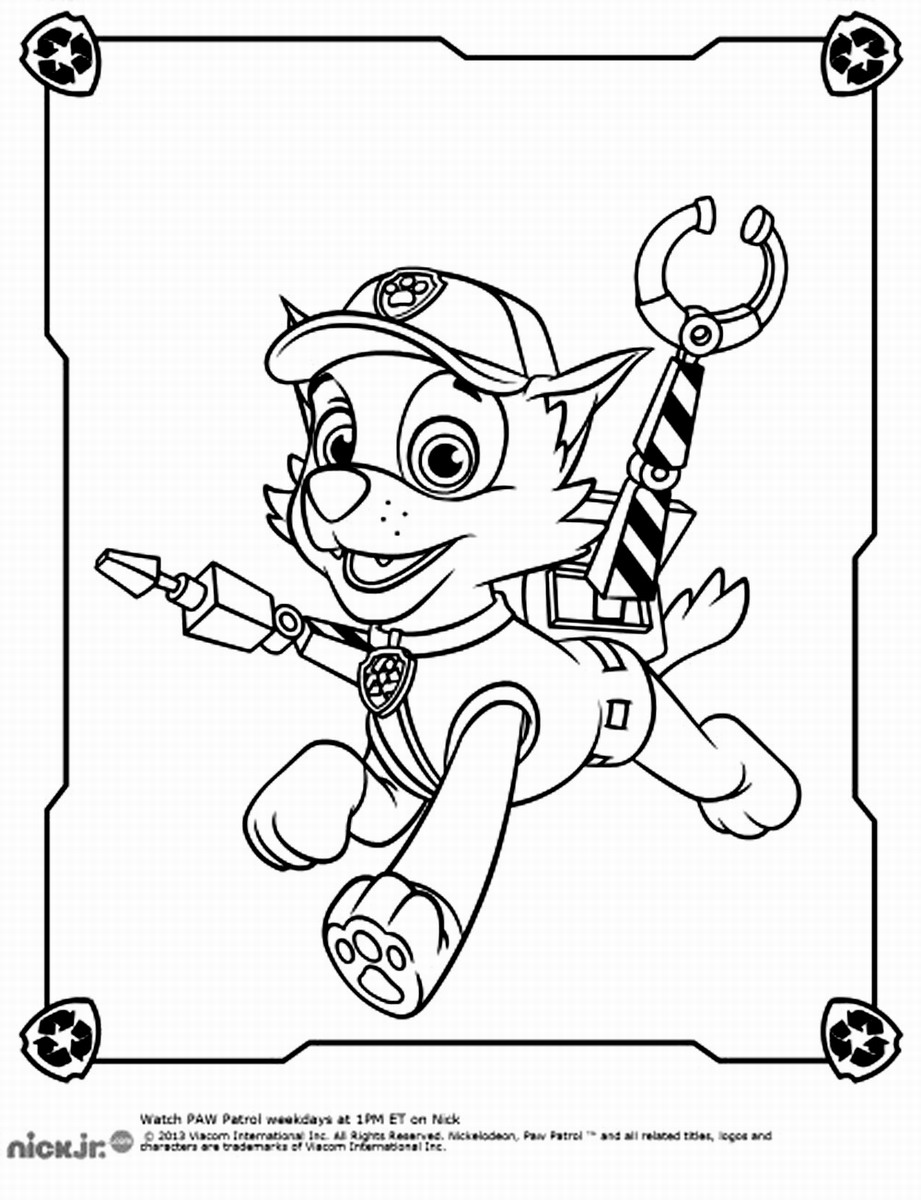 Printable Coloring Pages Of Paw Patrol : Paw patrol everest coloring pages to print