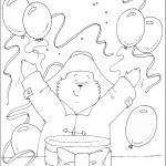 דף צביעה הדוב פדינגטון 1