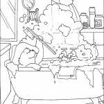 דף צביעה הדוב פדינגטון 13