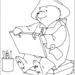 דף צביעה הדוב פדינגטון 8