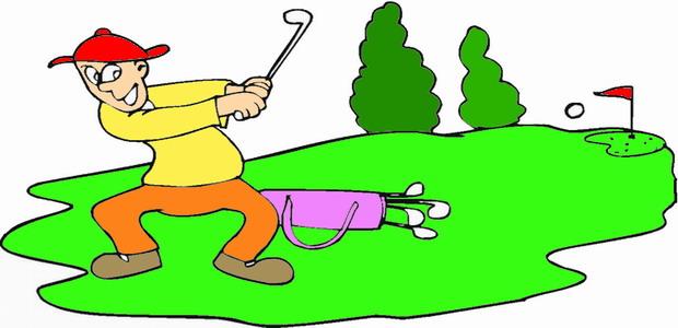 לחצו על דפי הצביעה של משחק הגולף להגדלה ולהדפסה