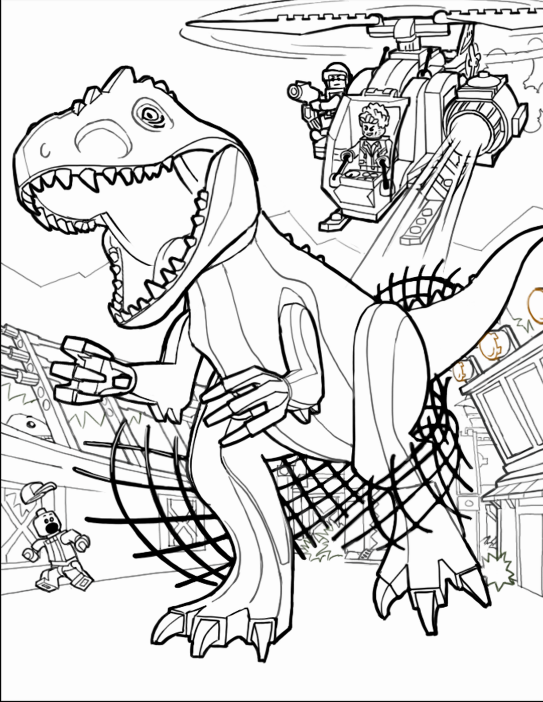 jurassic world coloring pages online - photo#30