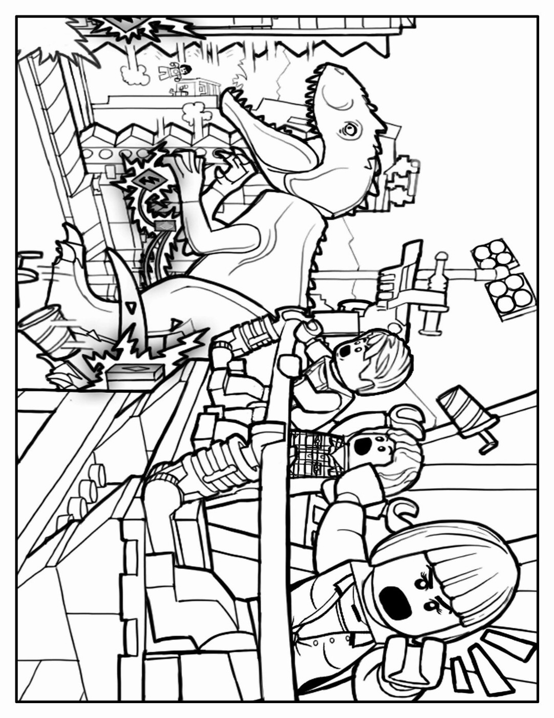 Jurassic World Colouring Pages